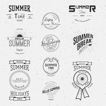 Zomervakantie badges logo's en labels voor elk gebruik