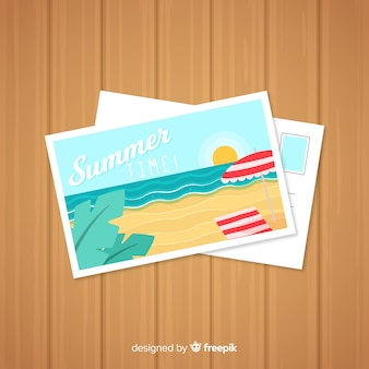 Zomervakantie briefkaart