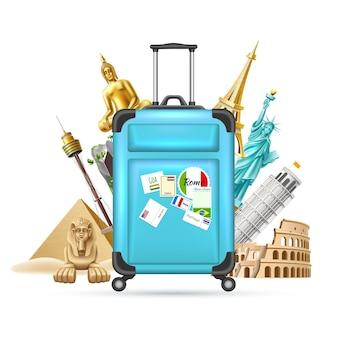 Zomervakantie en reizen toerisme ontwerp