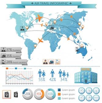 Zomervakantie infographic concept