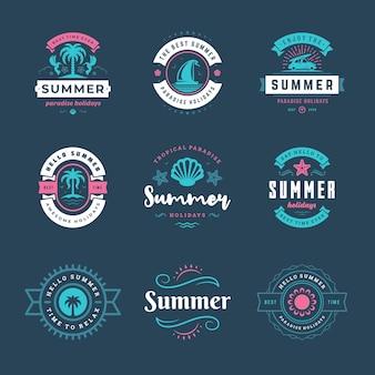 Zomervakantie logo's en badges