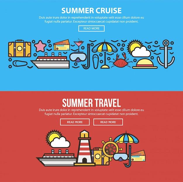 Zomervakantie of reizen op zee cruise