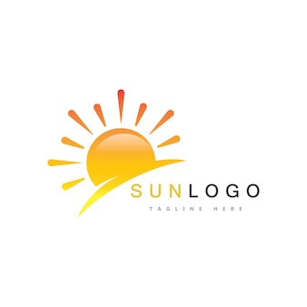 Zomerzon logo sjabloon vector