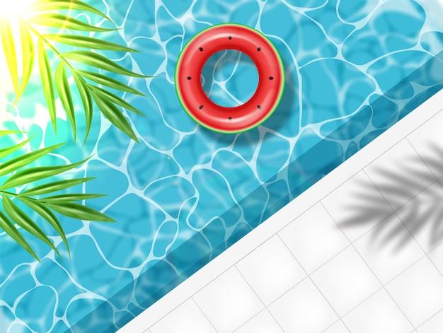 Zomerzwembad en zwemring