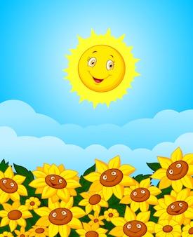 Zon bloem veld