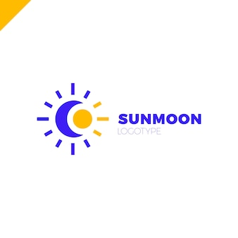 Zon en maan logo. abstracte illustratie