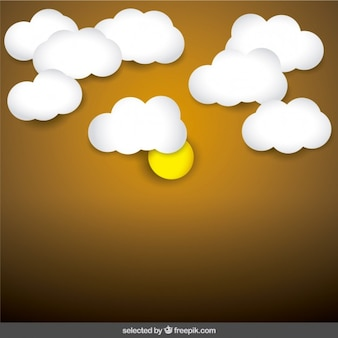 Zon en wolken achtergrond