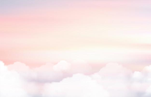 Zon en wolkenachtergrond