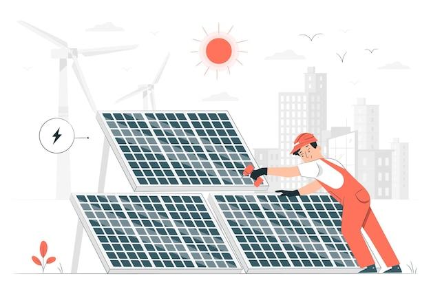 Zon energie concept illustratie