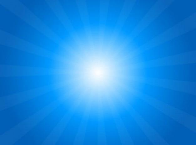 Zon in de hemel met zonnestraal