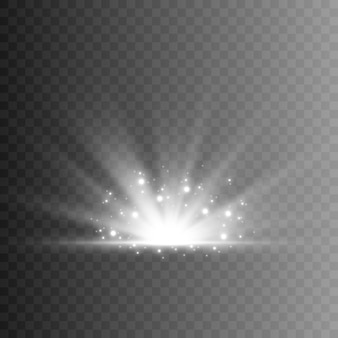 Zon, lichtstralen met fonkelingen