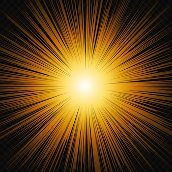 Zon schijnen gloed licht