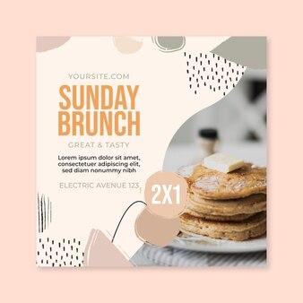 Zondag brunch food restaurant vierkante flyer