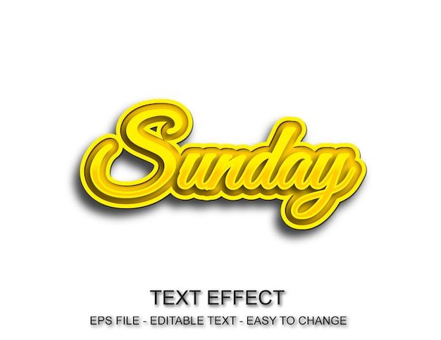 Zondag tekst effect bewerkbare stijl