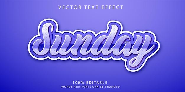 Zondag teksteffecten stijlsjabloon