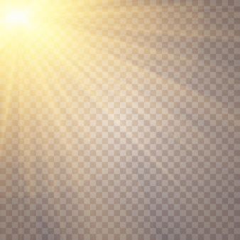 Zonlicht, glow star, flitste pailletten, sun glare lens schittert zonlicht flare, lichteffect