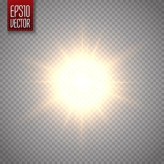 Zonlicht speciale lens flare lichteffect. vector illustratie