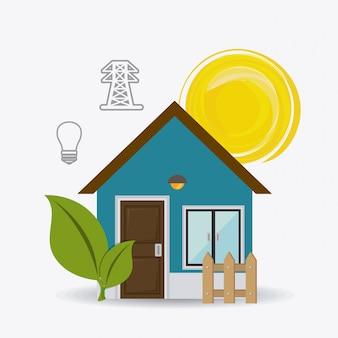 Zonne-energie ontwerp.