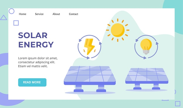 Zonne-energie paneel zonne-energie campagne voor de startpagina van de startpagina van de website