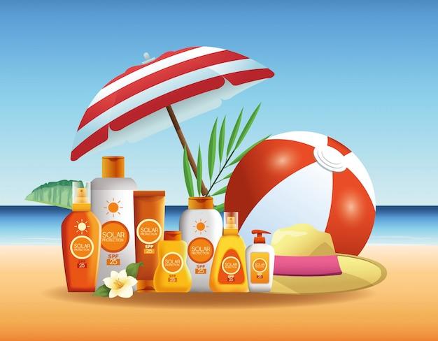 Zonnebescherming flessen producten voor de zomer reclame