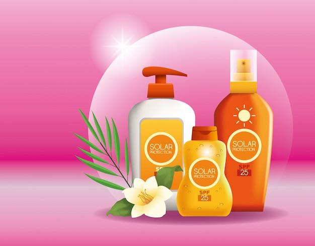 Zonnebescherming flessen producten voor de zomer