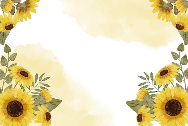Zonnebloem aquarel achtergrond