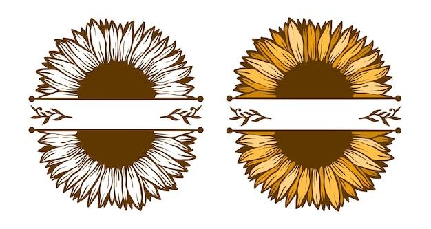 Zonnebloem bloemen natuur plant illustratie concept