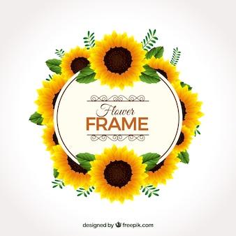 Zonnebloem frame achtergrond