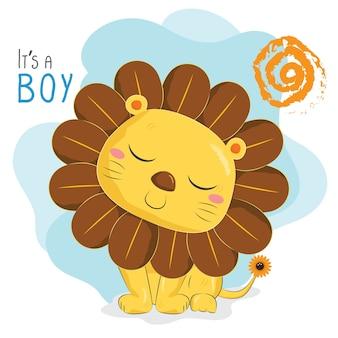 Zonnebloem leeuw