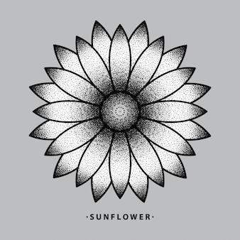 Zonnebloem tatoeage ontwerp