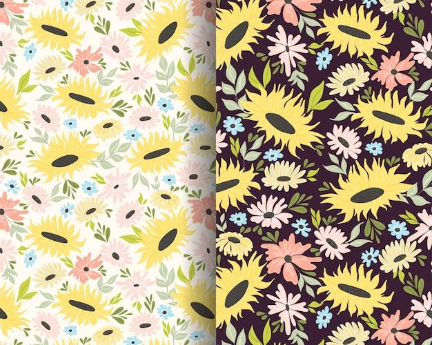 Zonnebloem tuin patroon ontwerp