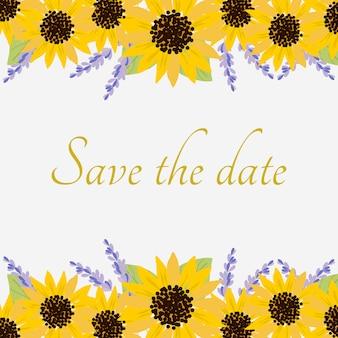 Zonnebloemen illustratie achtergrond