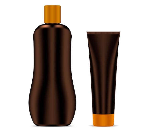 Zonnebrandcrème zonbeschermende cosmetische container