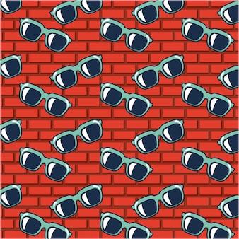 Zonnebril doodle patroon