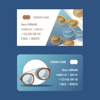 Zonnebril modieuze accessoire set visitekaartjes zonnebrillen plastic frame moderne brillen