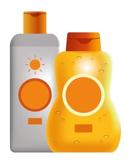 Zonnebronzers cosmetische producten
