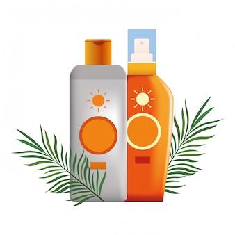 Zonnebronzers en cosmetica producten