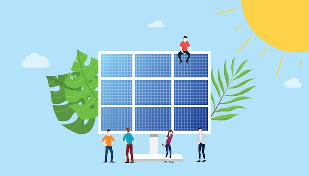 Zonnepaneel energietechnologie