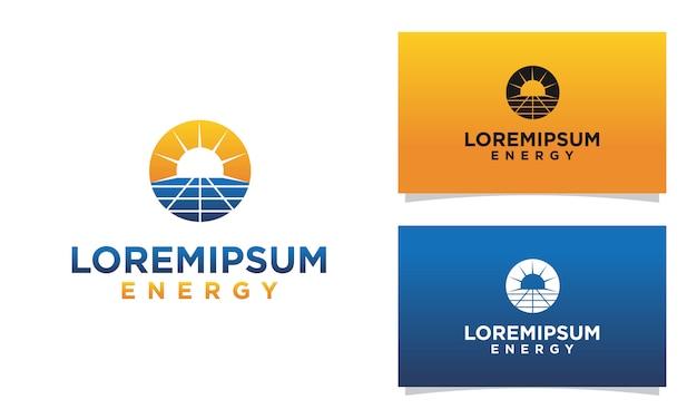 Zonnepaneel logo sjabloon