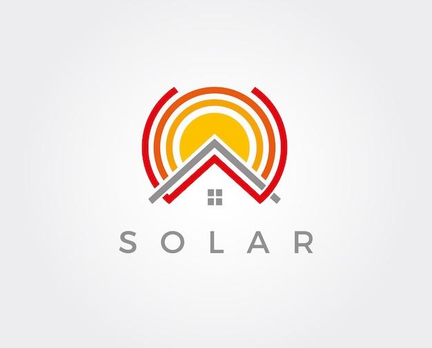 Zonnepanelen dak pictogram vector knop logo symbool concept