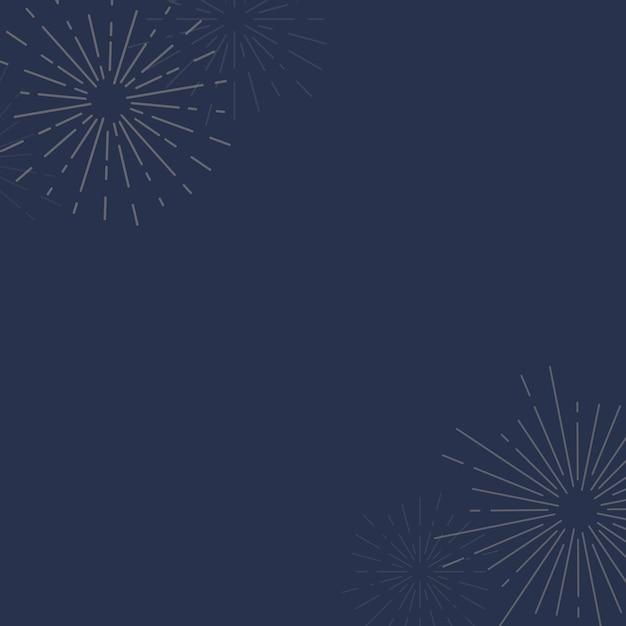 Zonnestraalontwerp als achtergrond in blauwe vector