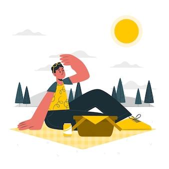 Zonnige dag concept illustratie