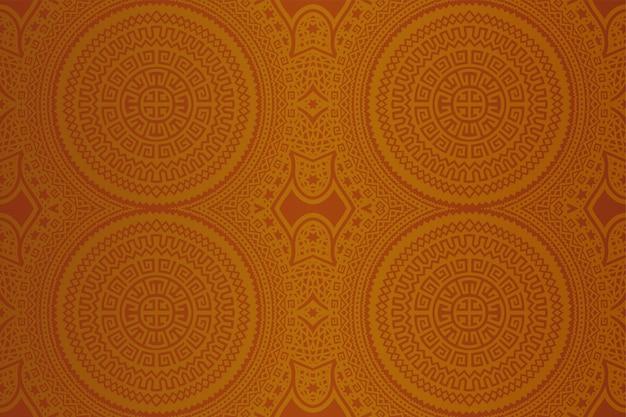 Zonnige geometrische kunst met naadloos abstract patroon