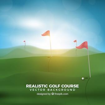 Zonnige golfbaan achtergrond