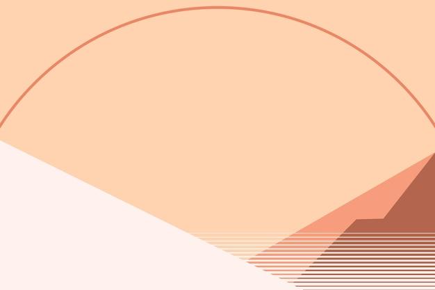 Zonsondergang geometrische berg achtergrond vector