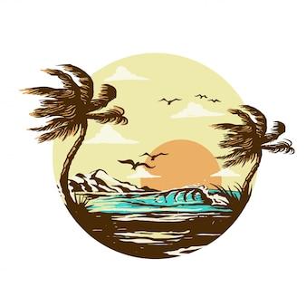 Zonsondergang in het paradijs