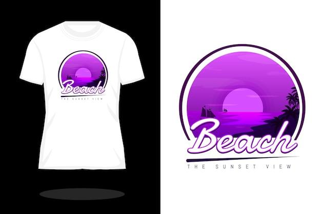 Zonsondergang uitzicht silhouet t-shirt ontwerp