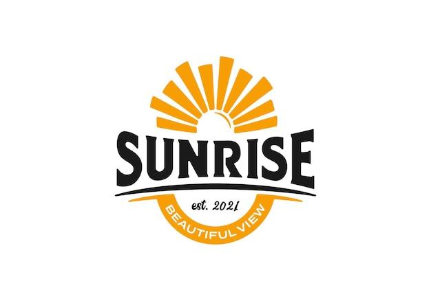 Zonsopgang uitzicht logo ontwerp illustratie inspiratie