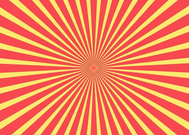 Zonsopkomst. vector vormen. zonnige achtergrond.
