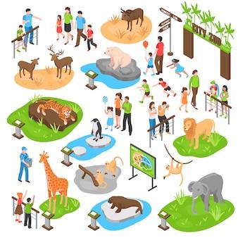 Zoo isometrische grote reeks